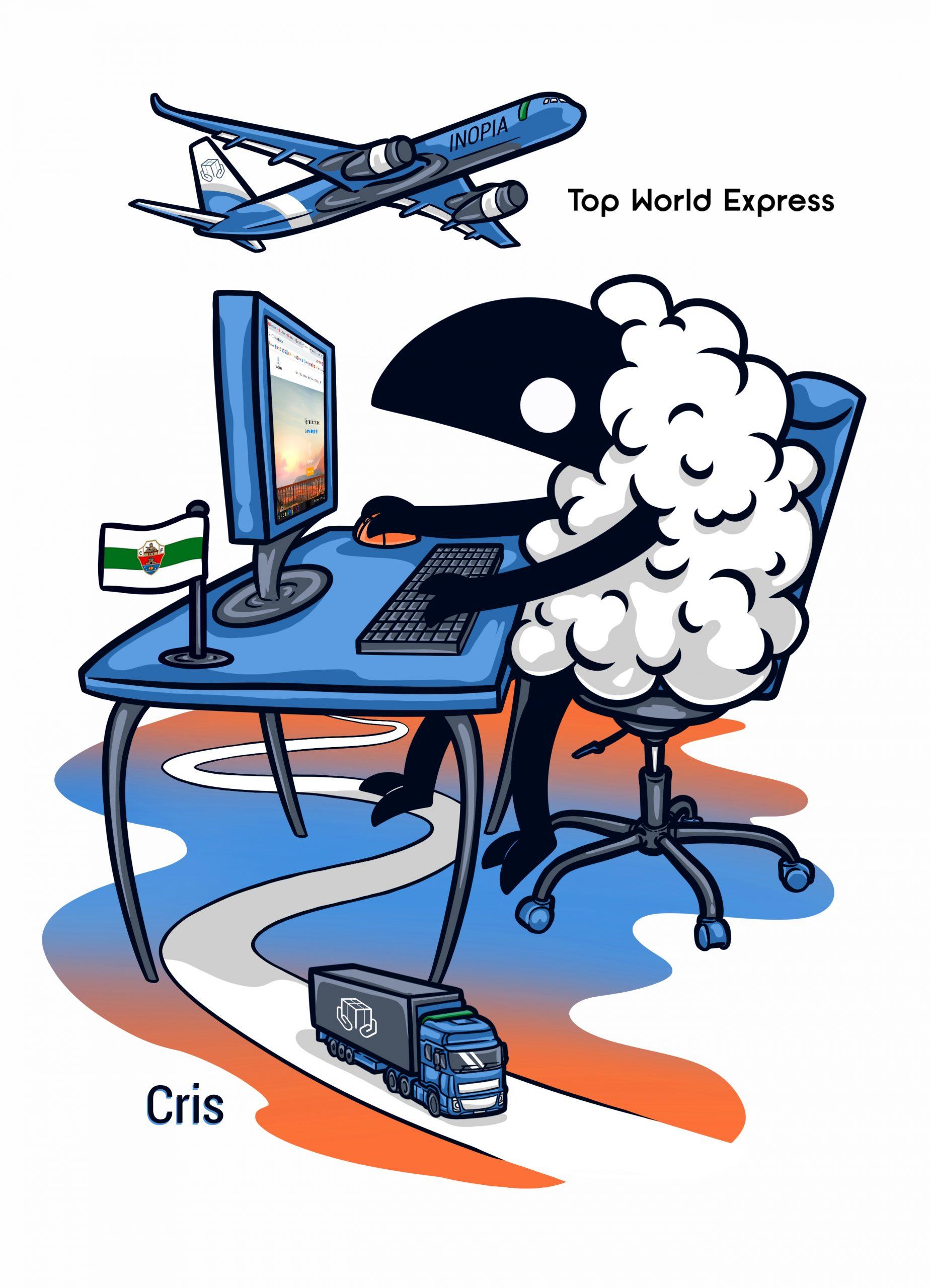 Top World Express - Regalo de despedida a una de sus empleadas.